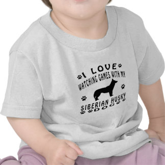 Siberian Husky Dog Design T-shirt