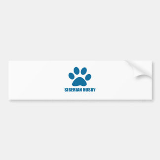 SIBERIAN HUSKY DOG DESIGNS BUMPER STICKER
