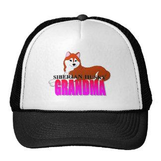 Siberian Husky Dog Grandma Cap