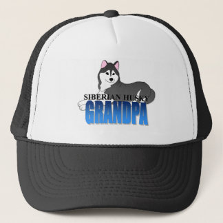 Siberian Husky Dog Grandpa Trucker Hat