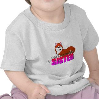 Siberian Husky Dog Sister T-shirts