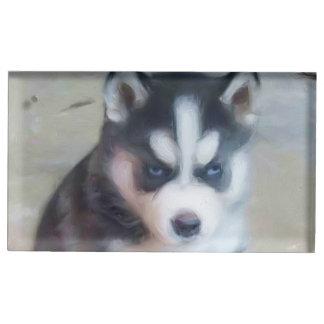 Siberian Husky dog Table Card Holders