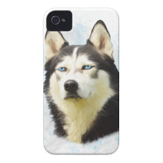 Siberian Husky Dog Water Color Art Painting iPhone 4 Case