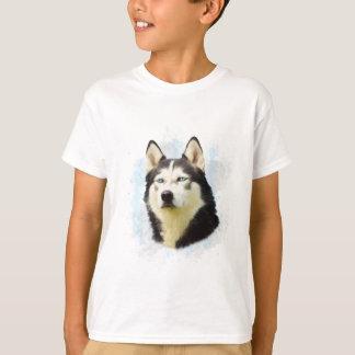 Siberian Husky Dog Water Color Art Painting Shirt