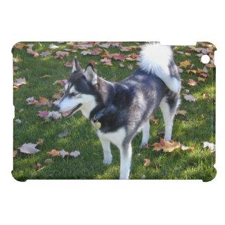 Siberian Husky Fall Leaves iPad Mini Cover