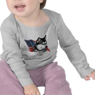 Siberian Husky Flag Shirt