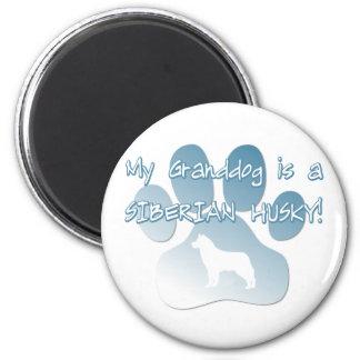 Siberian Husky Granddog 6 Cm Round Magnet