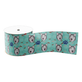 Siberian Husky Grosgrain Ribbon