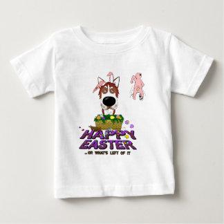 Siberian Husky Happy Easter T-shirts