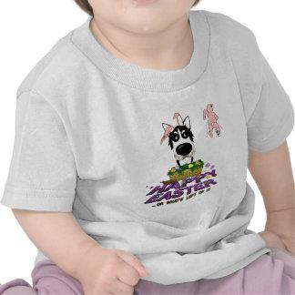 Siberian Husky Happy Easter Tshirt