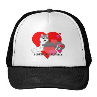 Siberian Husky Hearts Cap