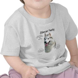 Siberian Husky History Design T Shirts
