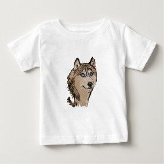 Siberian Husky II ~ Animal Art Baby T-Shirt