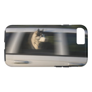 Siberian Husky in Moving Car Phone Case