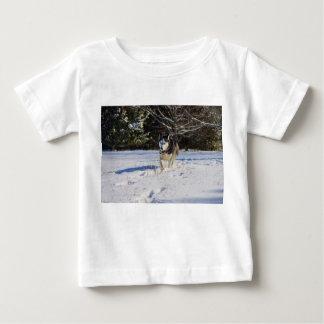 Siberian Husky In The Snow Baby T-Shirt