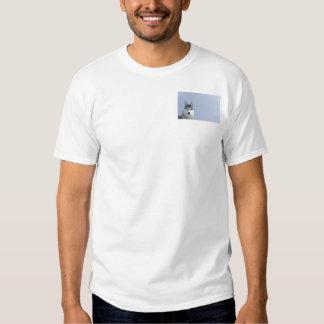 Siberian Husky on Blue Background T-shirts