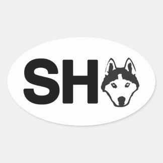 Siberian Husky Oval Sticker