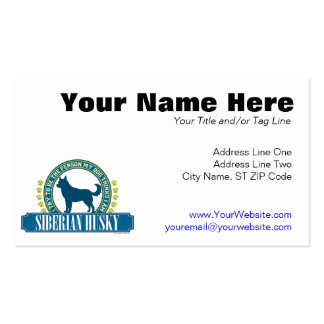 Siberian Husky Pack Of Standard Business Cards