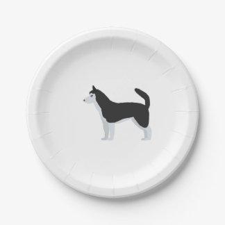 Siberian Husky Paper Plate