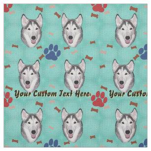 Siberian Husky - Personalise Fabric