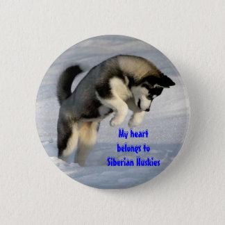 Siberian husky pin