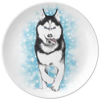 Siberian Husky Plate