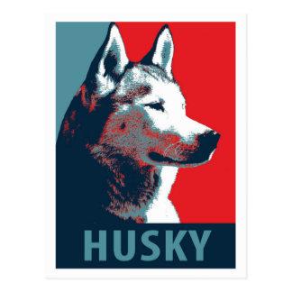 Siberian Husky Political Parody Poster Postcards