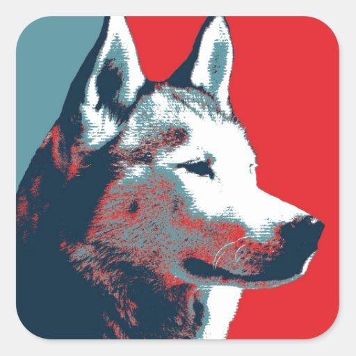 Siberian Husky Political Parody Poster Sticker
