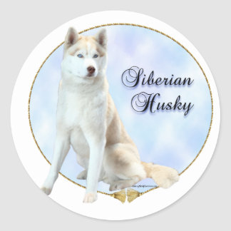 Siberian Husky Portrait Sticker