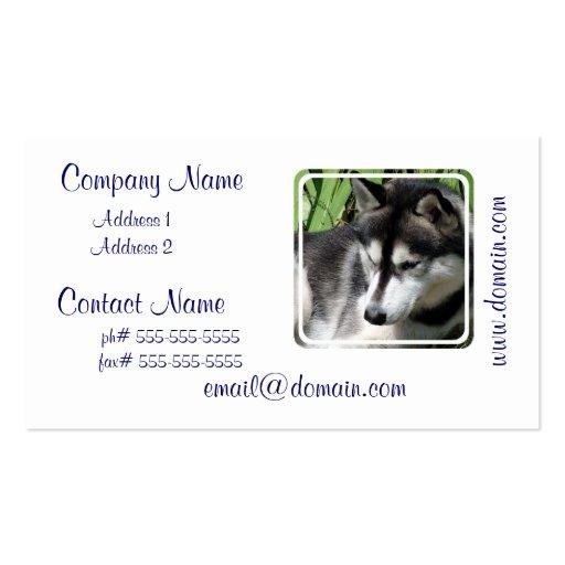 Siberian Husky Profile  Business Cards