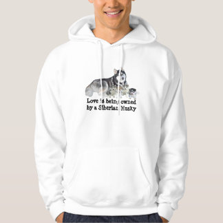 Siberian Husky & Puppies Unisex Hooded Sweatshirt