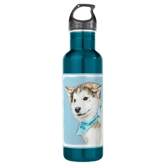 Siberian Husky Puppy 710 Ml Water Bottle