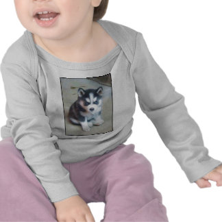 Siberian Husky puppy art Shirts