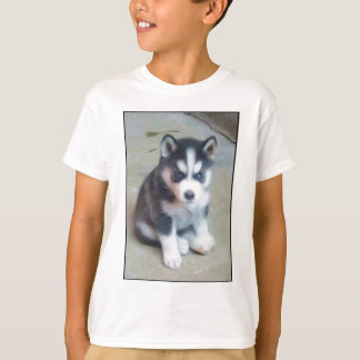 Siberian Husky puppy art T Shirt