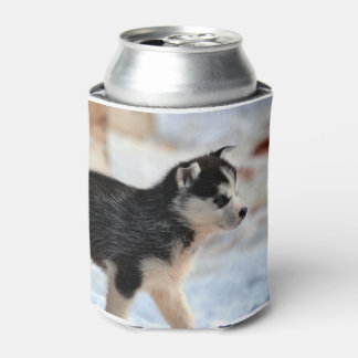 siberian husky puppy.png can cooler