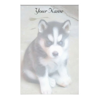 Siberian Husky puppy stationary Stationery