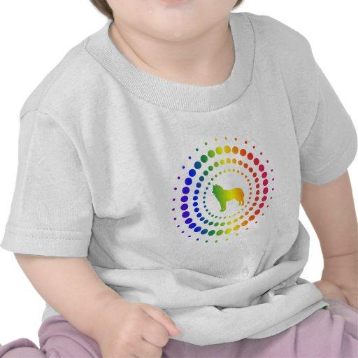 Siberian Husky Rainbow Studs Shirts