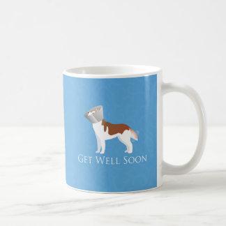 Siberian Husky - Red - Get Well Soon Design Coffee Mugs