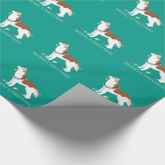 Siberian Husky - Red - Merry Christmas Design Wrapping Paper