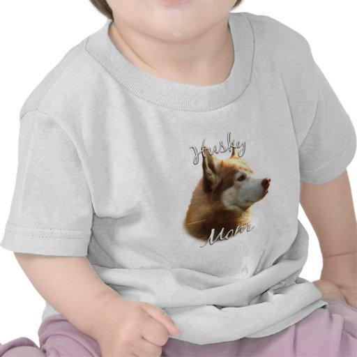 Siberian Husky (red) Mom 2 Tee Shirts