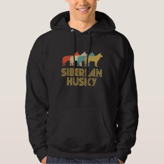 Siberian Husky Retro Pop Art Hoodie