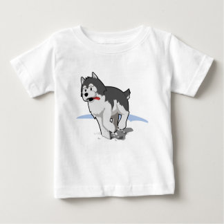 Siberian Husky Running in the Snow with Tongue Out Shirt
