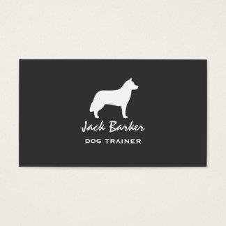Siberian Husky Silhouette Business Card