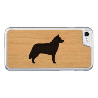Siberian Husky Silhouette Carved iPhone 7 Case