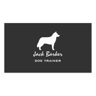 Siberian Husky Silhouette Pack Of Standard Business Cards