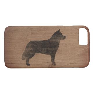Siberian Husky Silhouette Rustic iPhone 7 Case