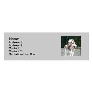Siberian Husky skinny business cards