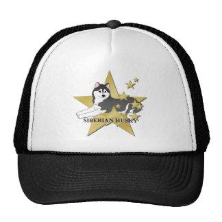 Siberian Husky Stars Cap