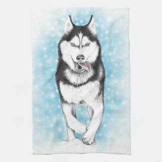Siberian Husky Tea Towel