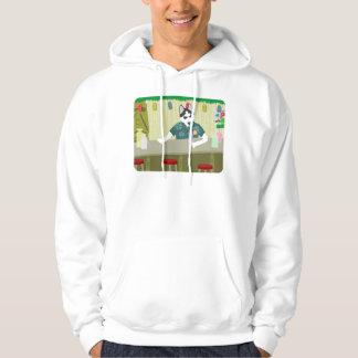 Siberian Husky Tiki Bar Hoodie